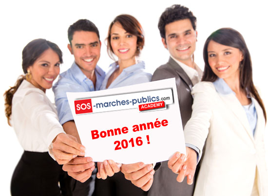 Bonne année avec sos marchés publics academy